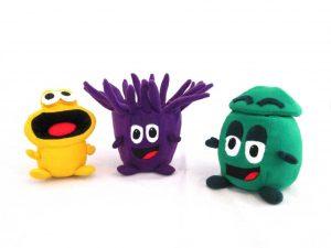 Custom soft toys bin characters