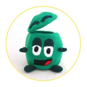 Picture to Puppet Gallery green bin