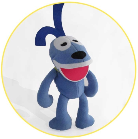 Picture to Puppet Gallery blue dog stuffed toy