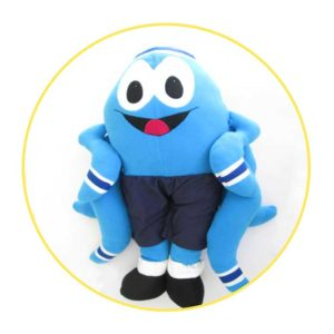 Picture to Puppet Gallery blue octopus stuffed toy