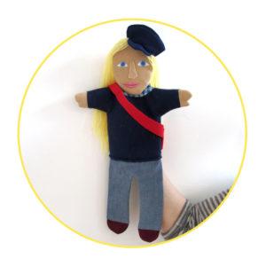 Bespoke Likeness Puppet woman in black shirt