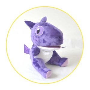 Picture to Puppet Gallery purple dragon