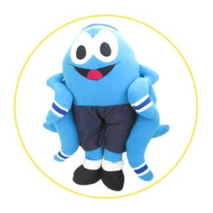 Handmade soft toys blue octopus