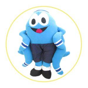 Handmade soft toys blue octopus