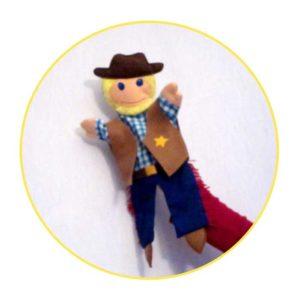 Glove puppet cowboy