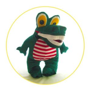 Custom hand puppet crocodile