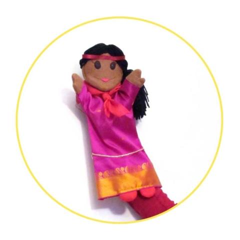 Glove puppet fortune teller