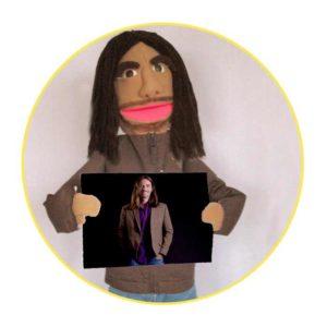 Bespoke Likeness Puppet man in brown shirt
