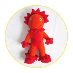 Custom soft toys orange monster