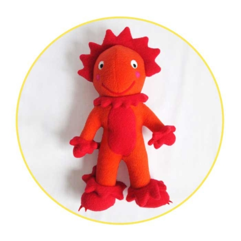 Custom soft toys orange monster