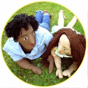 Picture to Puppet Gallery man and woman lying in grass
