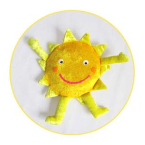 Custom soft toy yellow sun