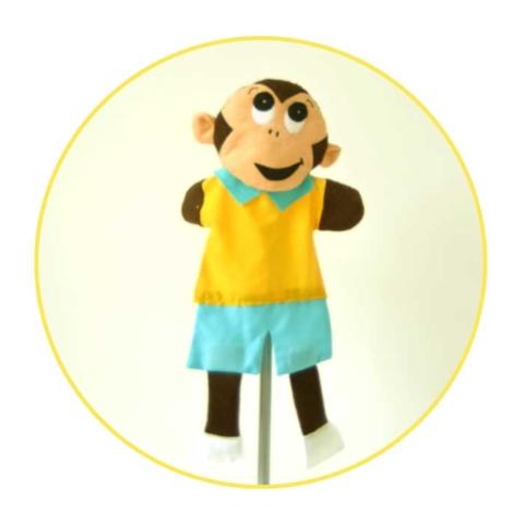 Glove puppet monkey