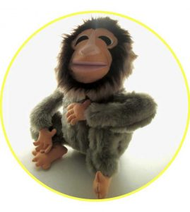 Custom hand puppet monkey