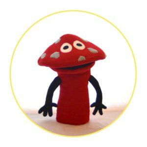 Custom hand puppet mr mushroom