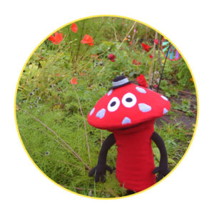 Picture to Puppet Gallery red mushroom