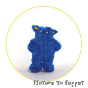 custom plush toy blue character