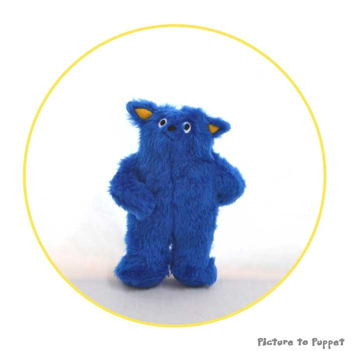 custom plush toy blue character