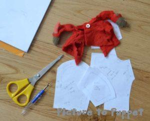 pattern pieces for bunny coat