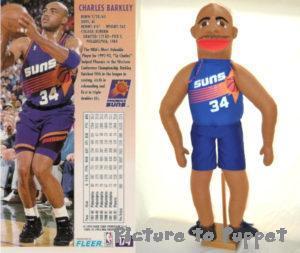 Charles Barkley lookalike puppet