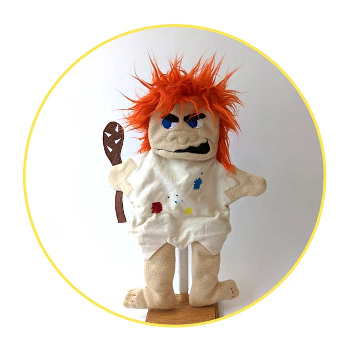 A Custom Glove Puppet Cave Troll