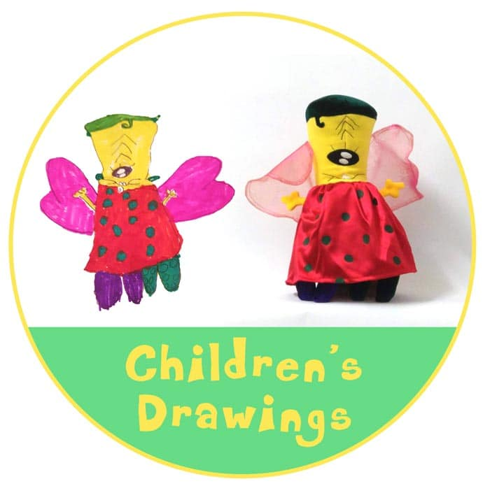 children's drawings button