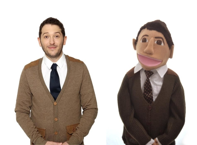 Jon Richardson puppet by Picture to Puppet