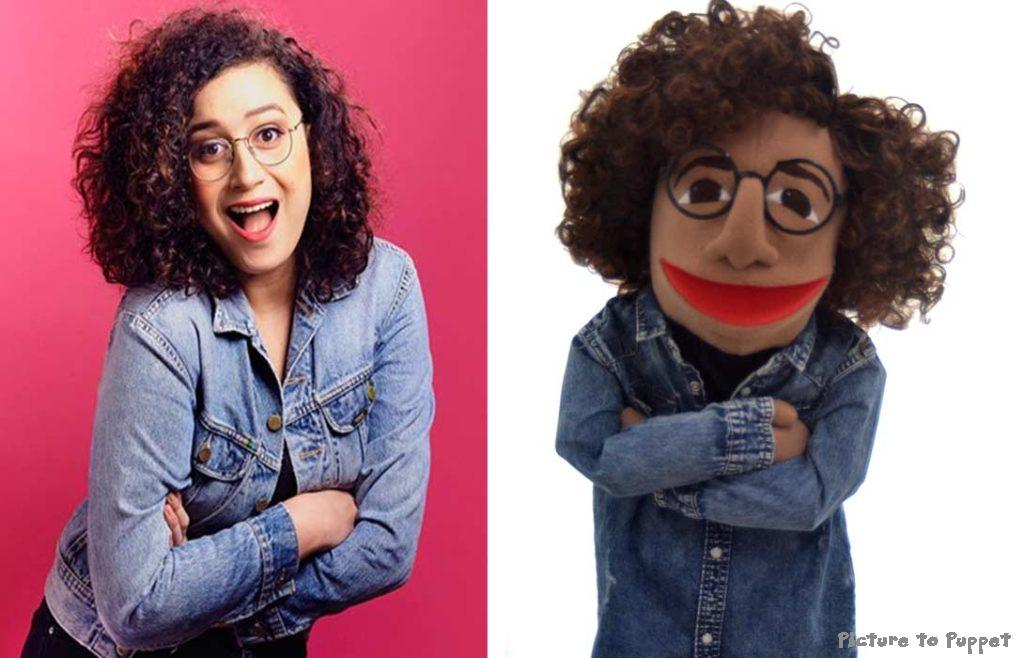 Rose Matafeo puppet by Picture to Puppet