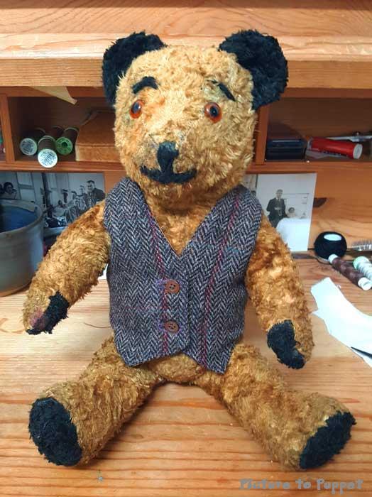 teddy bear in waistcoat