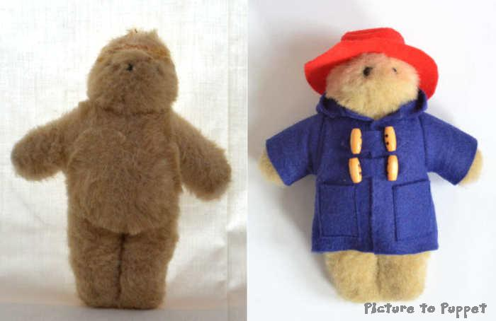 paddington bear with new coat and hat
