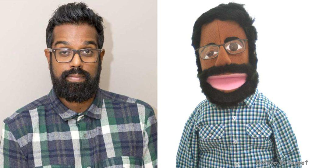 Custom caricature puppet