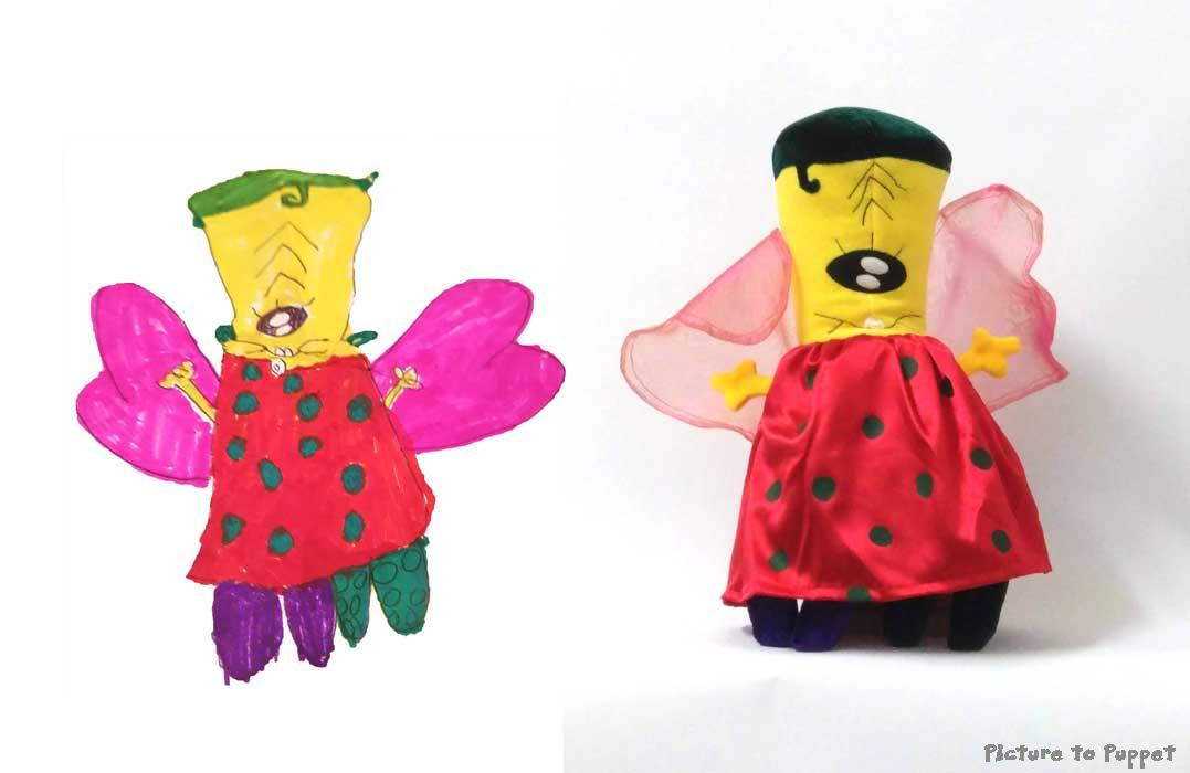 Soft Toy from a child's drawing