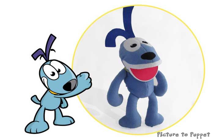 Puppets from cartoons