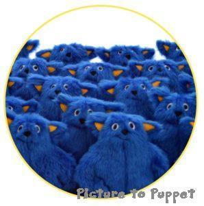 Bulk order- a large number of blue monster plush toys