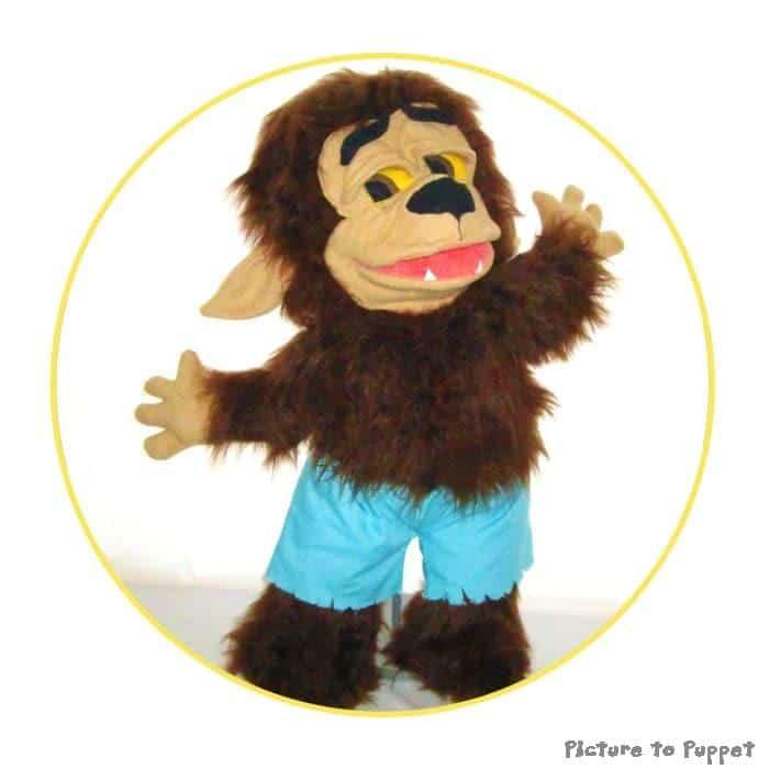 Custom Wolf Hand Puppet